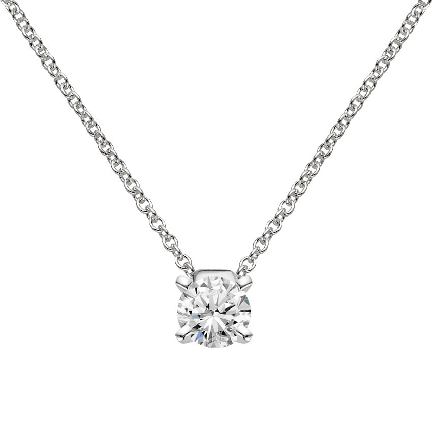 certified gold solitaire solid natural necklace diamond anniversary ct p string wear white office