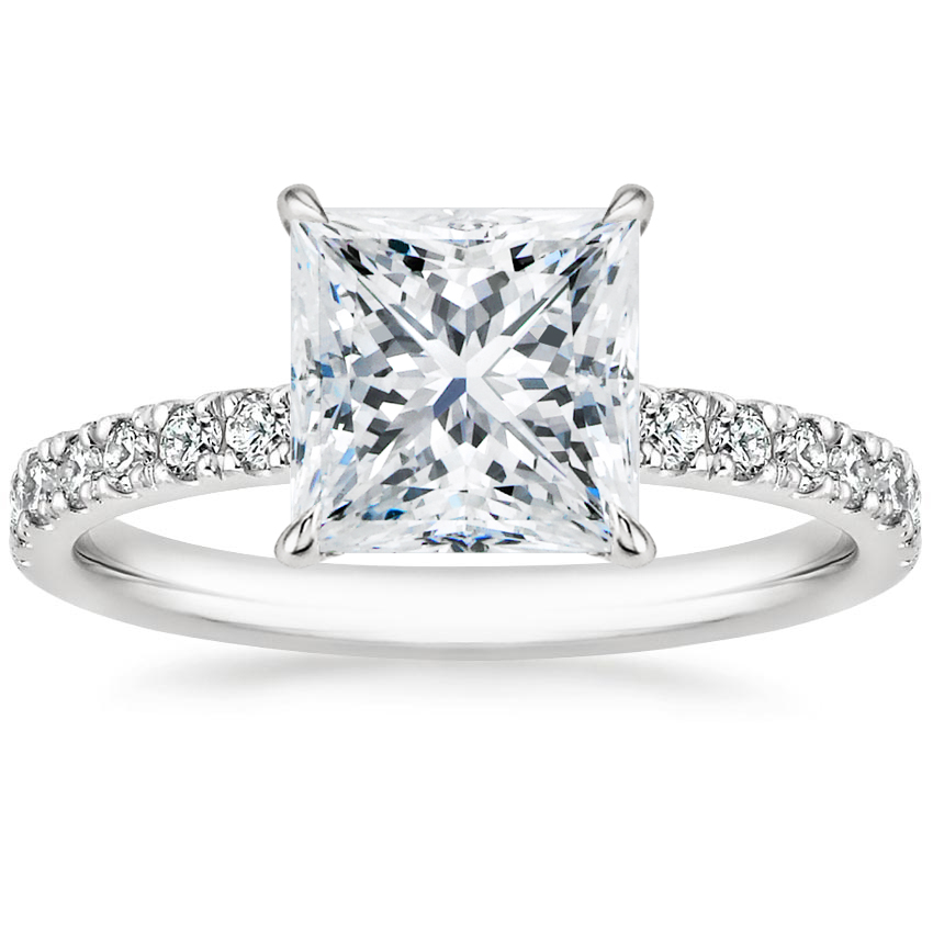 Princess Diamond Gallery Engagement Ring