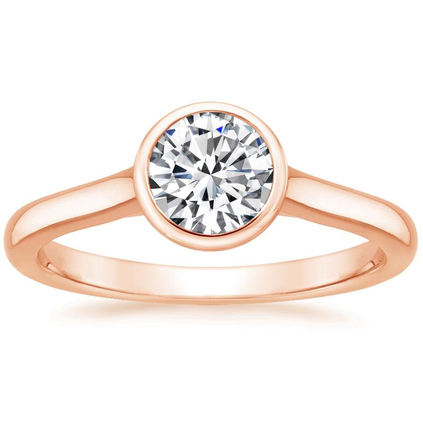 Round 14K Rose Gold Luna Ring
