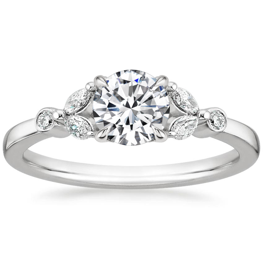 Round Platinum Verbena Diamond Ring