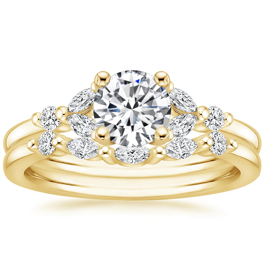18K Yellow Gold Verbena Diamond Bridal Set (1/4 ct. tw.)