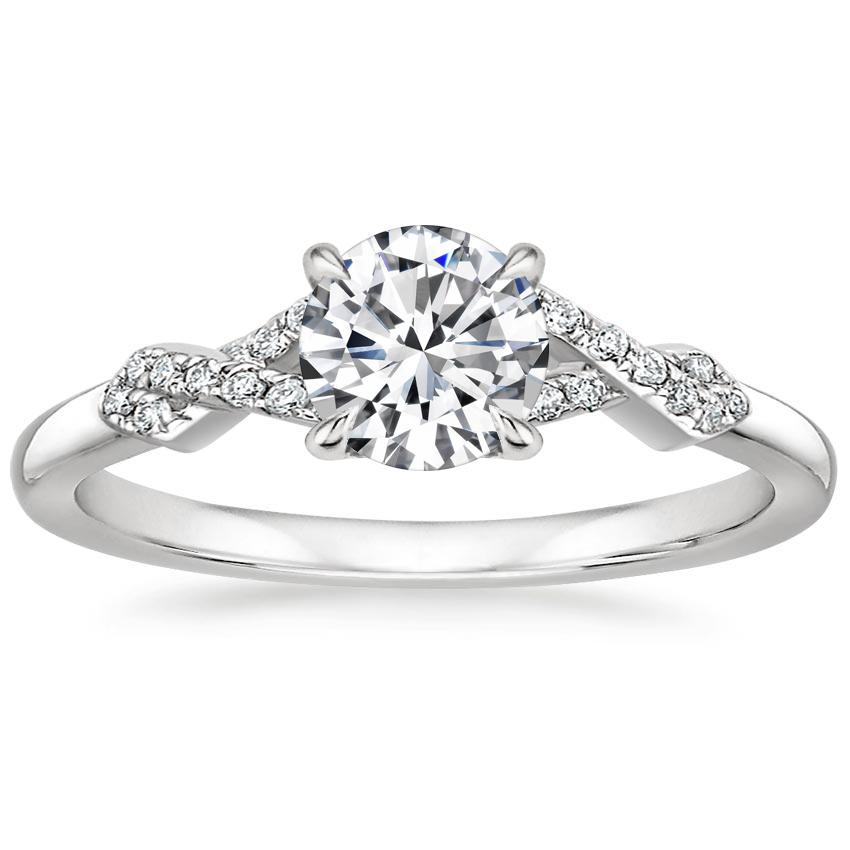 Round Entwined Split Shank Ring