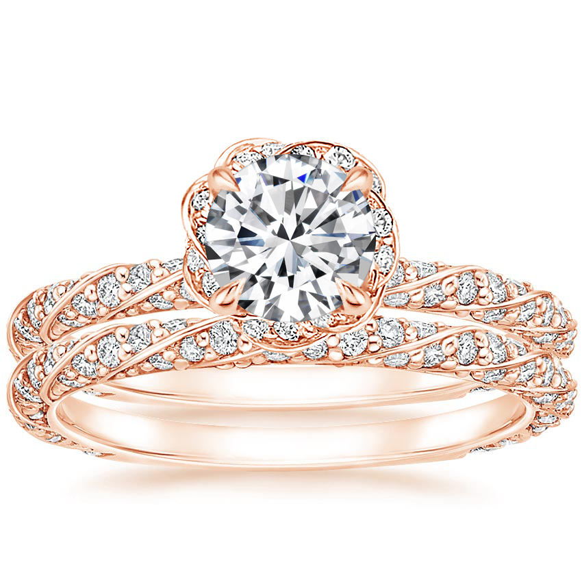 14K Rose Gold Nova Diamond Bridal Set (3/4 ct. tw.)