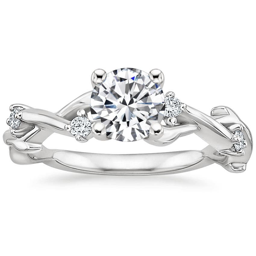 Round Branch Engagement Ring