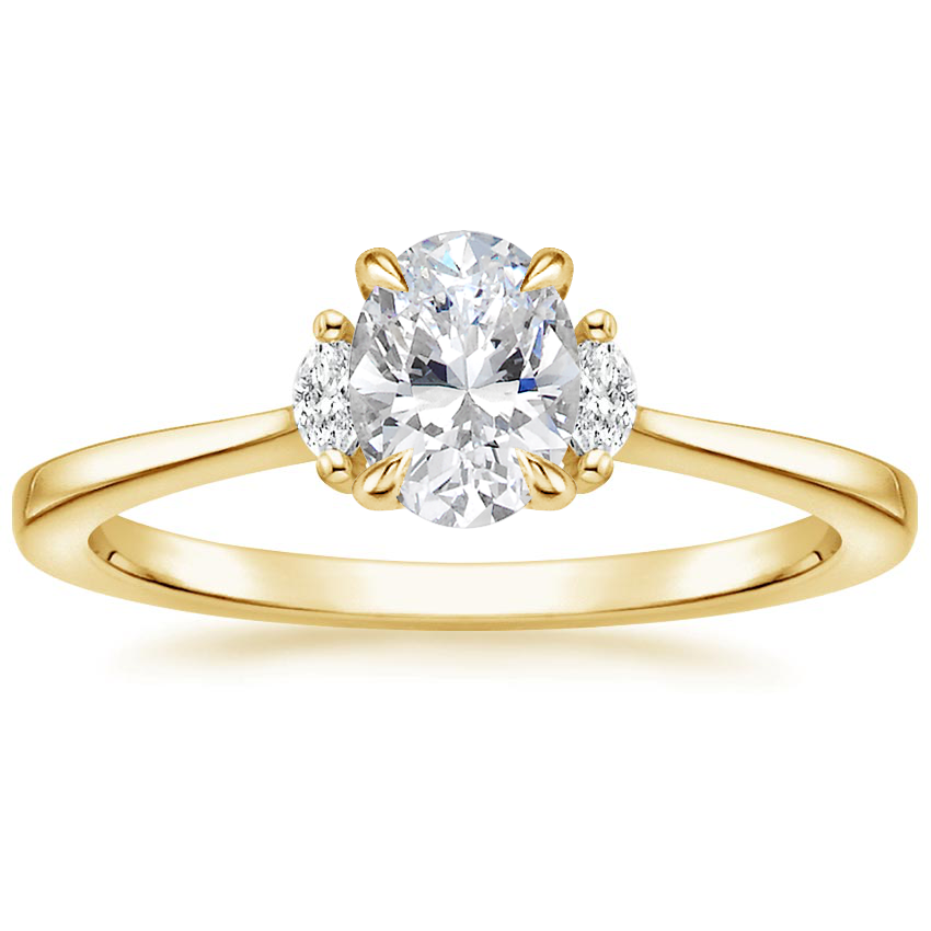 Oval Marquise Three Stone Ring