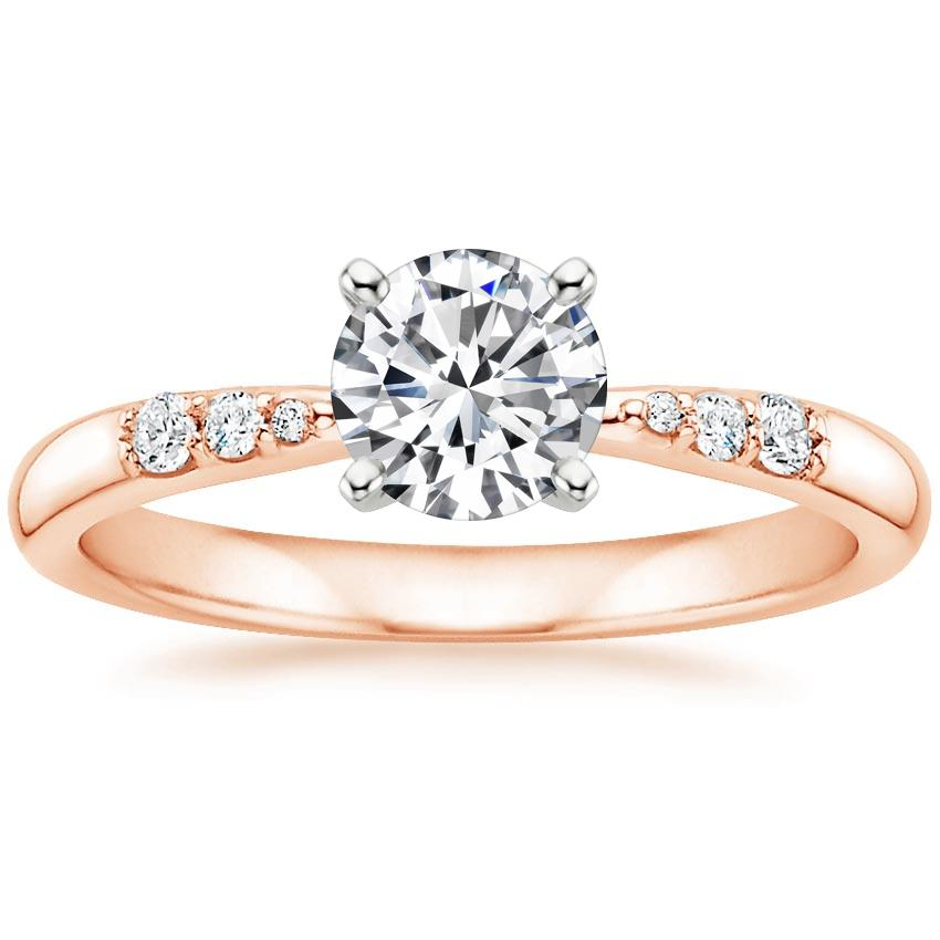 Round 14K Rose Gold Lark Diamond Ring