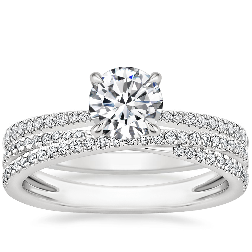 18K White Gold Elena Diamond Ring with Calypso Diamond Ring