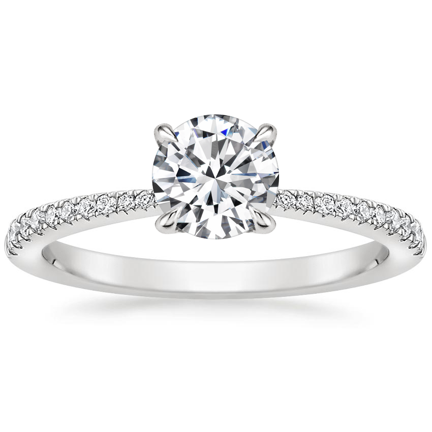 Round Petite Tapered Diamond Ring