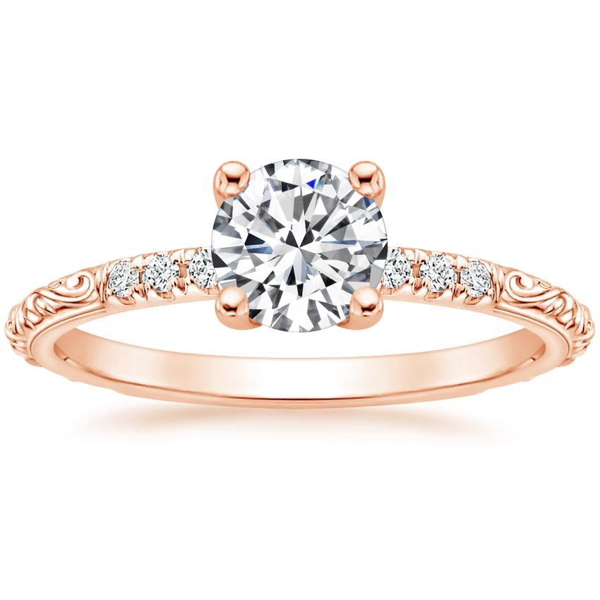 Round 14K Rose Gold Adeline Diamond Ring