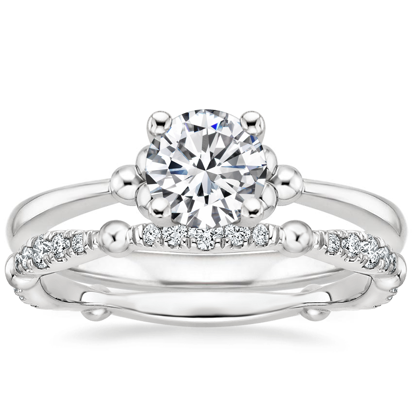 18K White Gold Soiree Ring with Dolce Diamond Ring