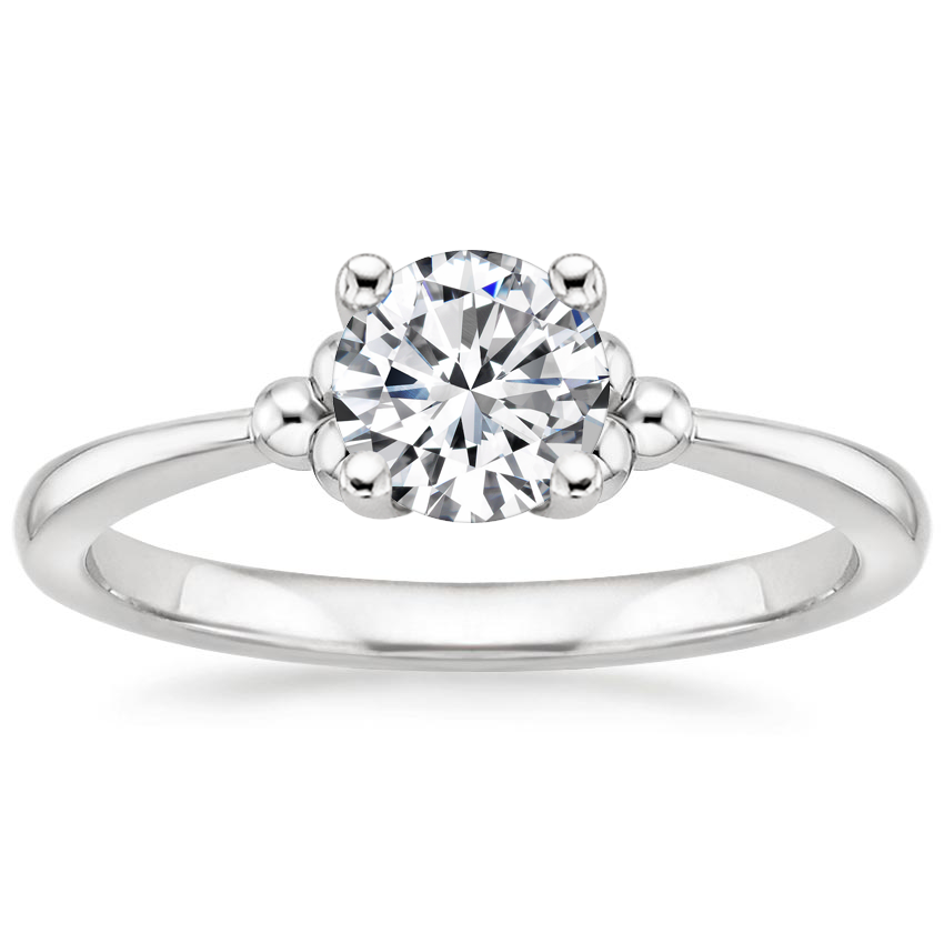 Round 18K White Gold Soiree Ring