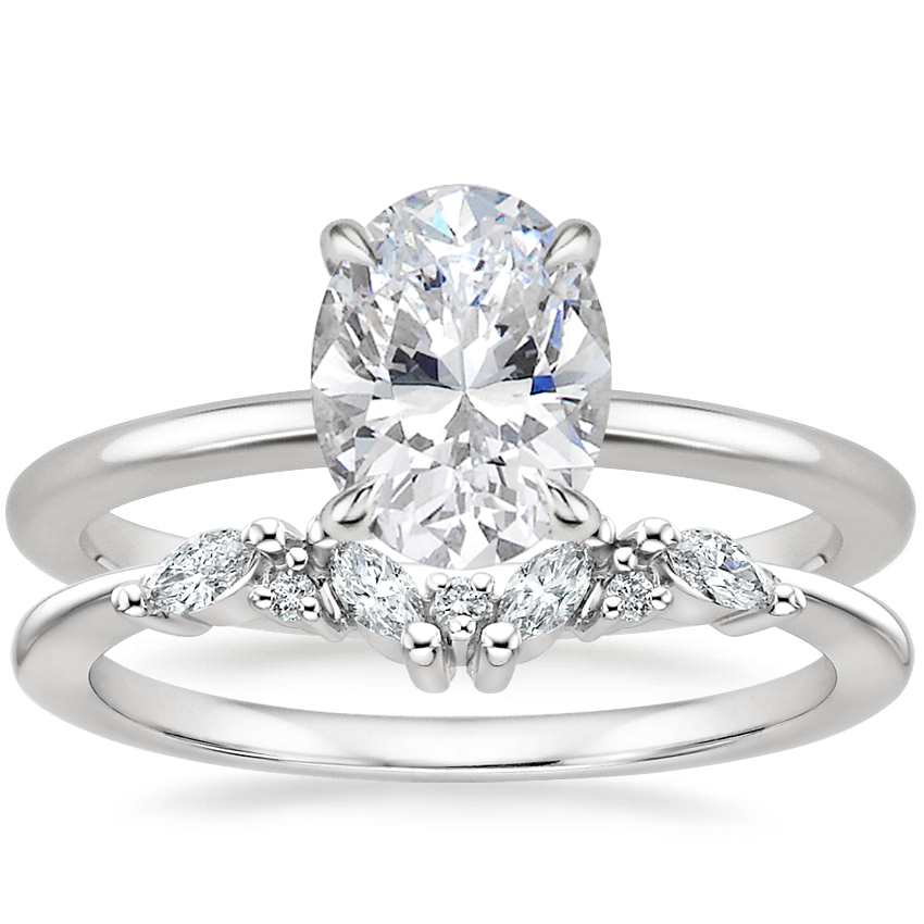 18K White Gold Everly Diamond Ring with Yvette Diamond Ring