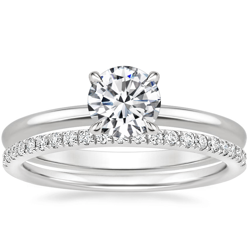 18K White Gold Everly Diamond Ring with Ballad Diamond Ring (1/6 ct. tw.)
