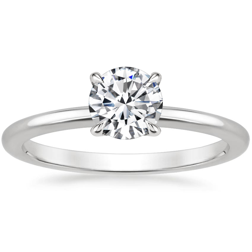 Round Platinum Everly Diamond Ring