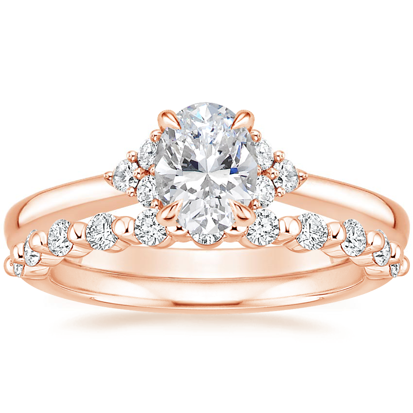 14K Rose Gold Melody Diamond Ring with Marseille Diamond Ring (1/3 ct. tw.)