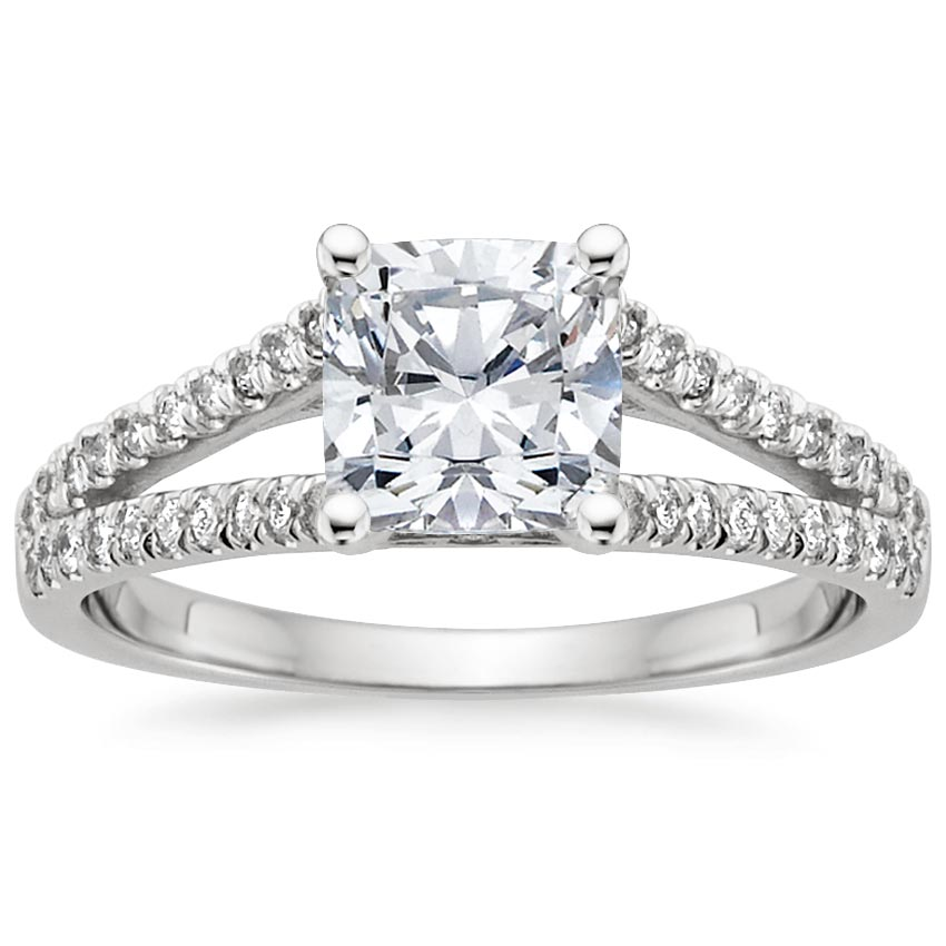 Platinum Astoria Diamond Ring, top view