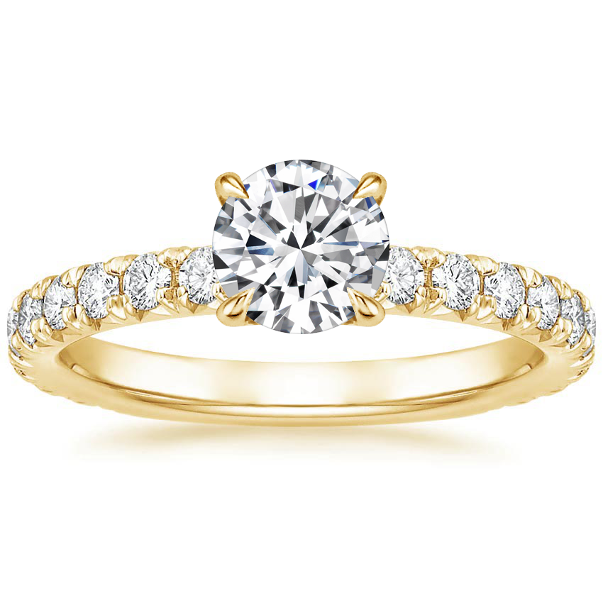 Round 18K Yellow Gold Olympia Diamond Ring