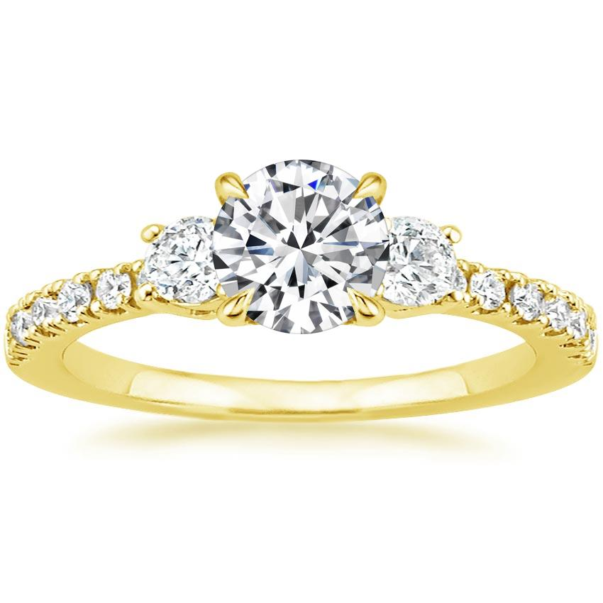 Round 18K Yellow Gold Radiance Diamond Ring (1/3 ct. tw.)