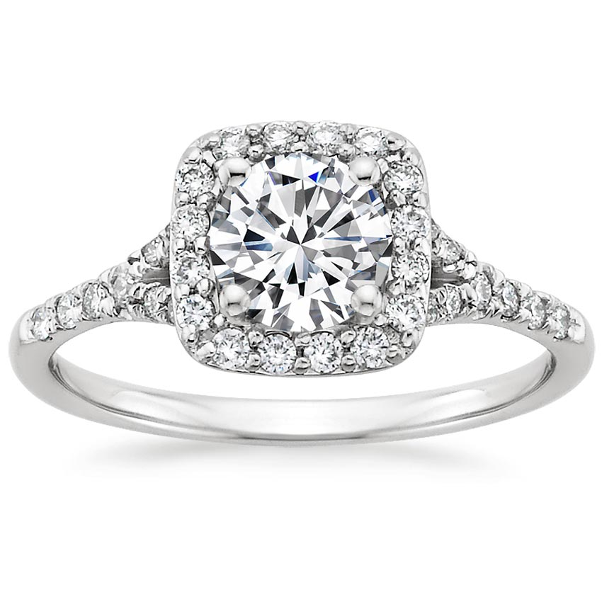 Platinum Harmony Diamond Ring, top view
