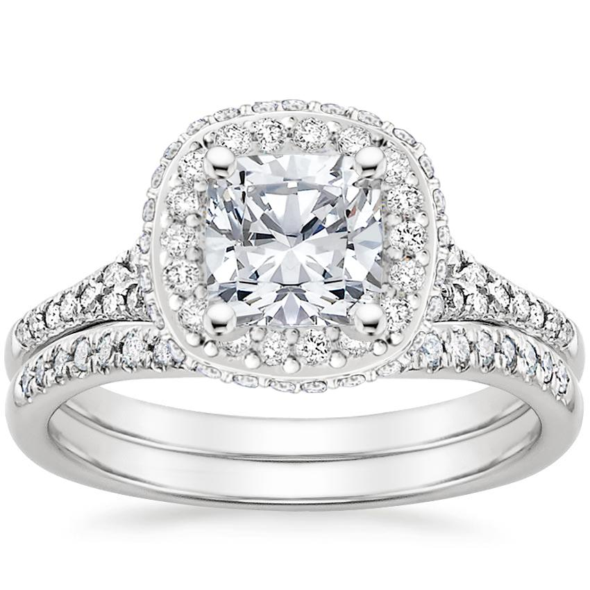 Platinum Circa Diamond Bridal Set (1/2 ct. tw.)