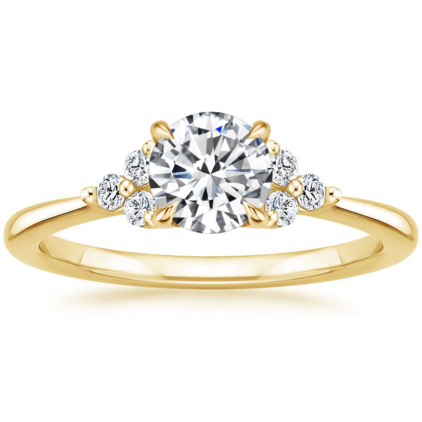 Round Trio Cluster Engagement Ring