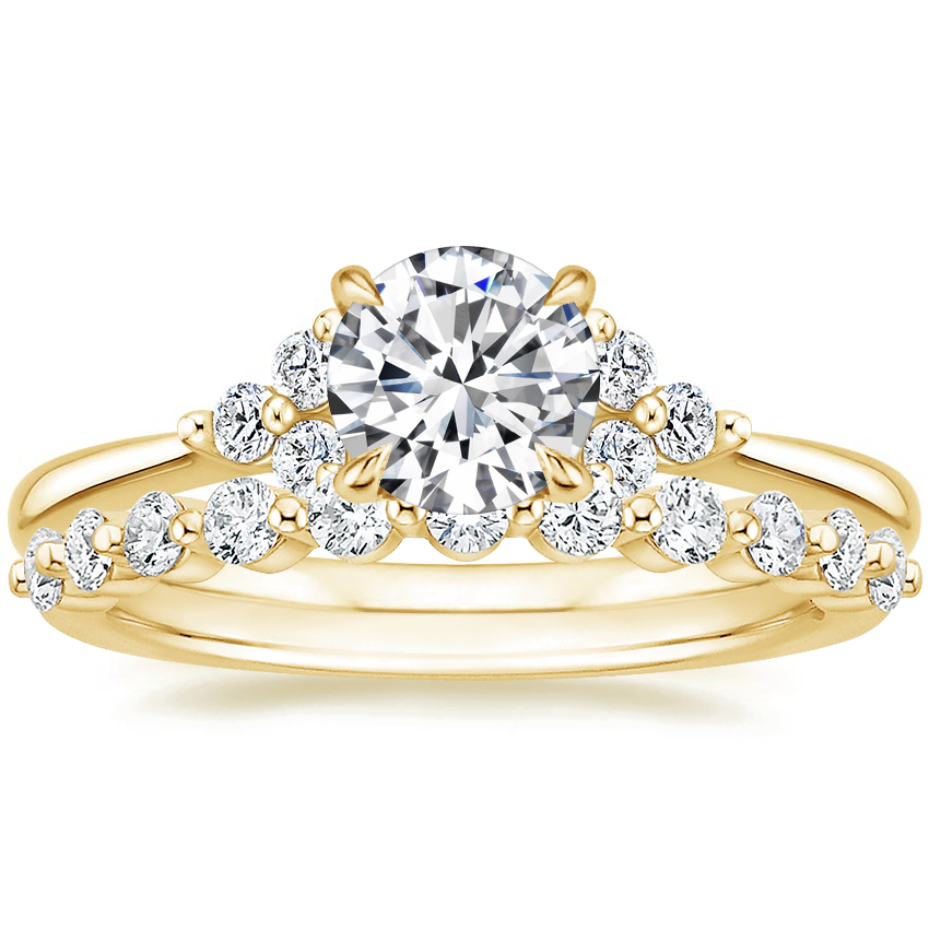 18K Yellow Gold Melody Diamond Ring with Marseille Diamond Ring (1/3 ct. tw.)