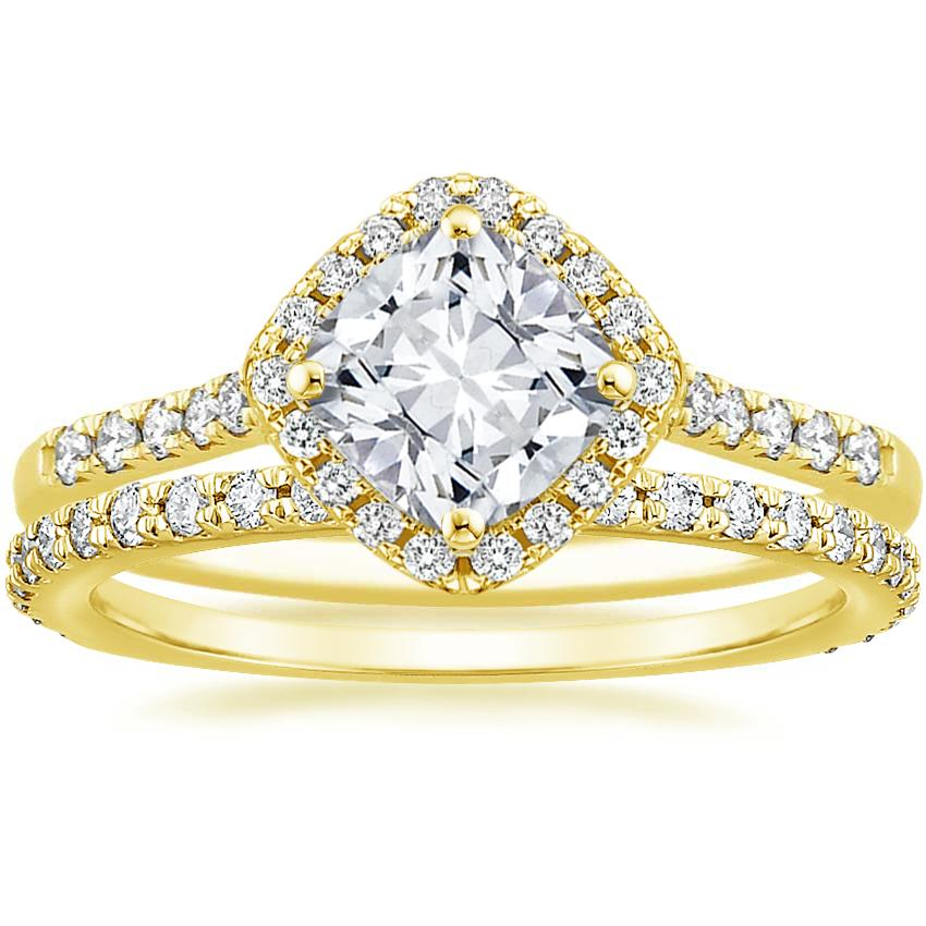 18K Yellow Gold Cometa Diamond Ring with Luxe Sonora Diamond Ring (1/4 ct. tw.)