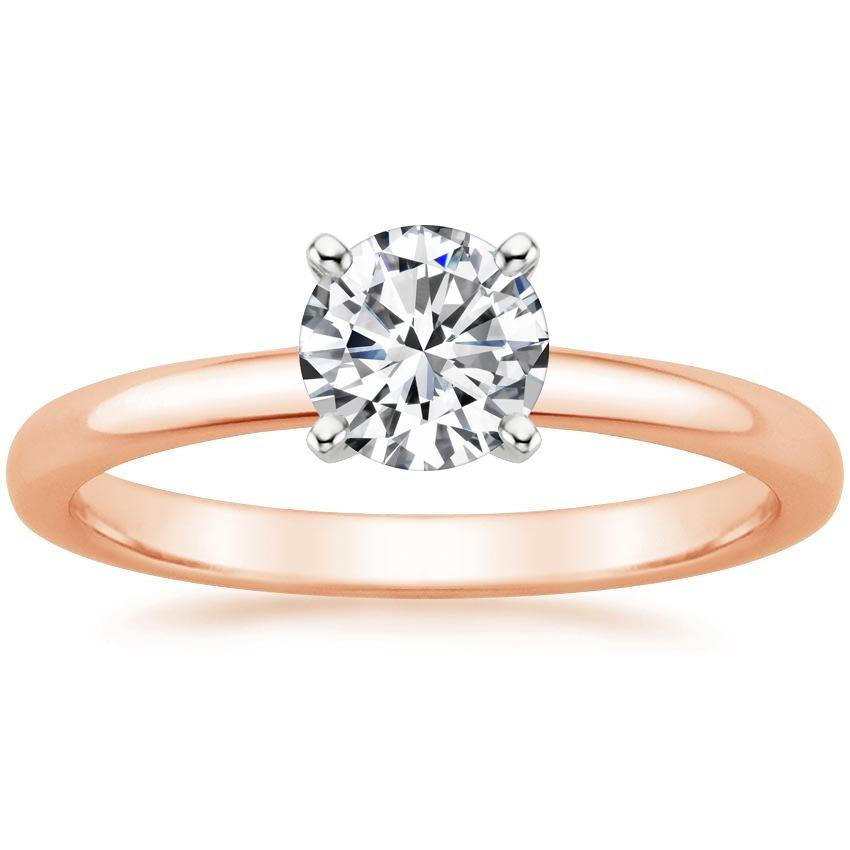 Round 14K Rose Gold 2mm Comfort Fit Ring
