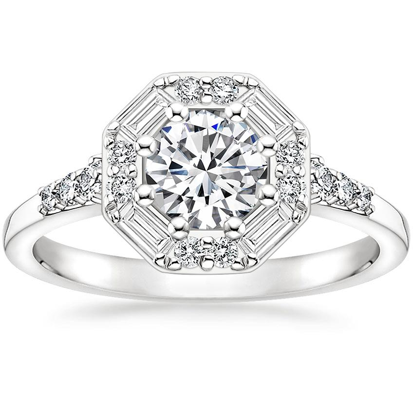 Round Platinum Octavia Diamond Ring (1/3 ct. tw.)