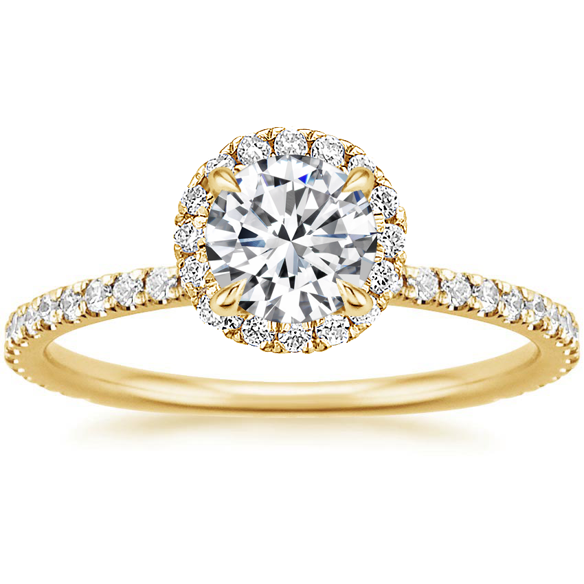 Round 18K Yellow Gold Waverly Diamond Ring (1/2 ct. tw.)