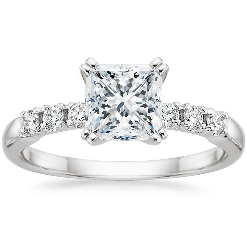 Platinum Posie Diamond Ring, top view