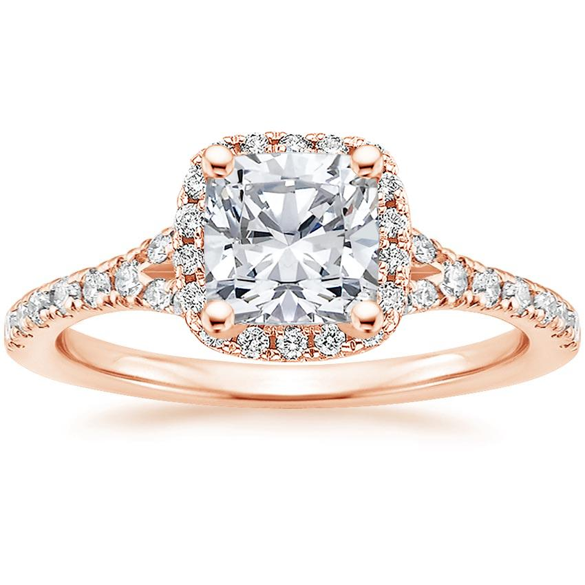 Cushion 14K Rose Gold Joy Diamond Ring