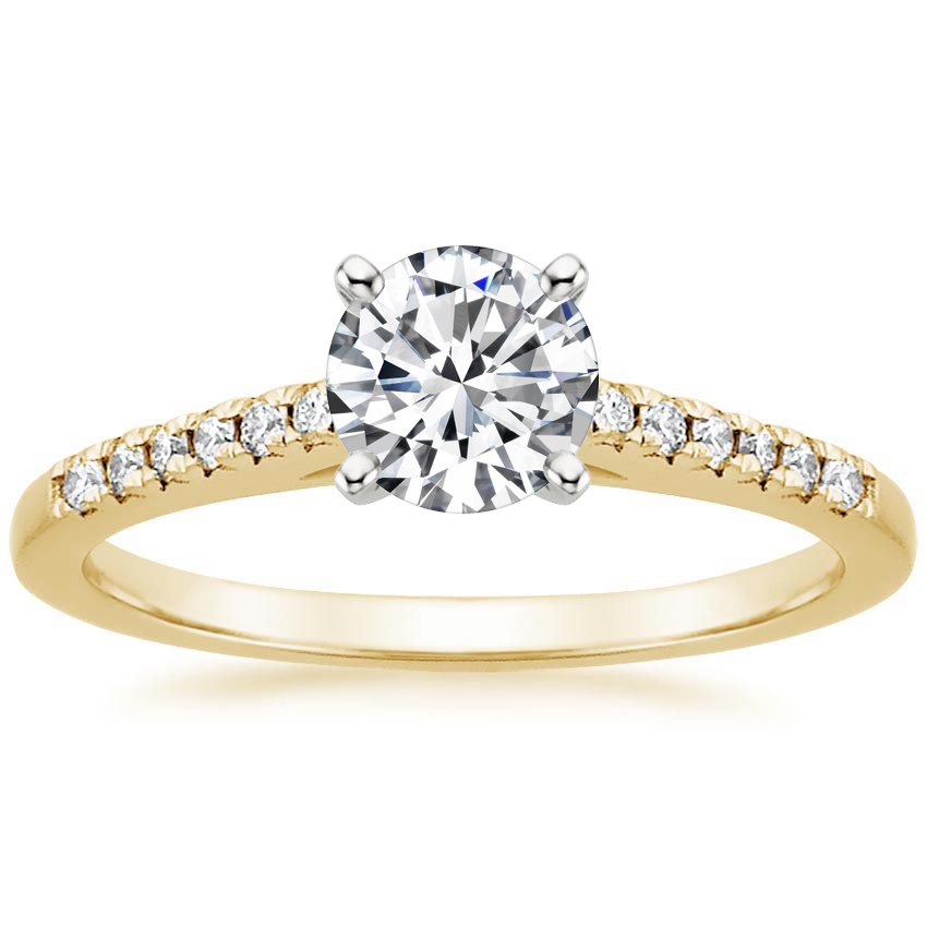 Round 18K Yellow Gold Sonora Diamond Ring