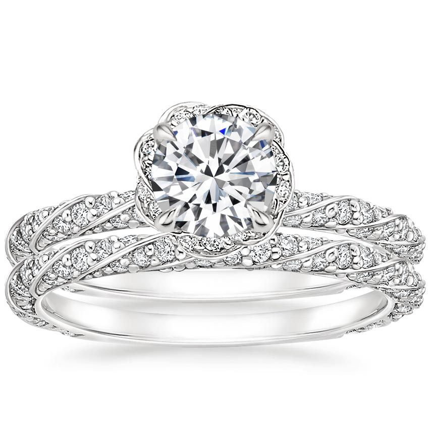 18K White Gold Nova Diamond Bridal Set (3/4 ct. tw.)