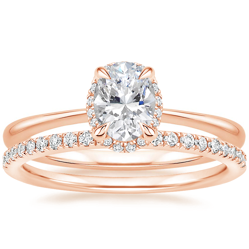 14K Rose Gold Regalia Diamond Ring with Ballad Diamond Ring (1/6 ct. tw.)