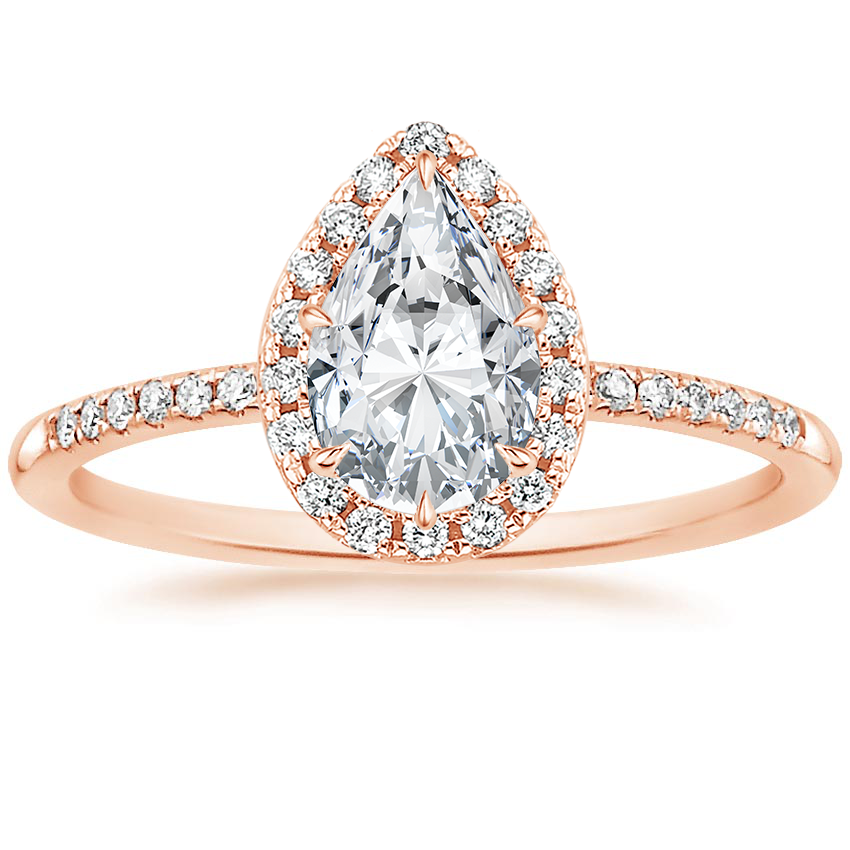 Pear 14K Rose Gold Cambria Diamond Ring