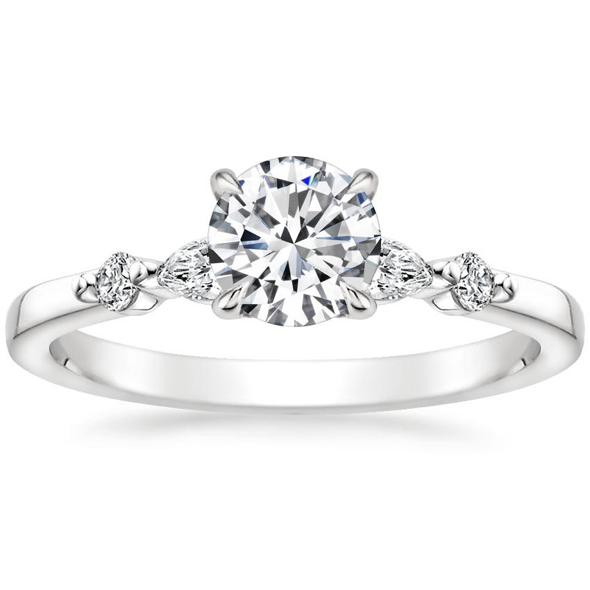 Round Marquise and Round Diamond Ring