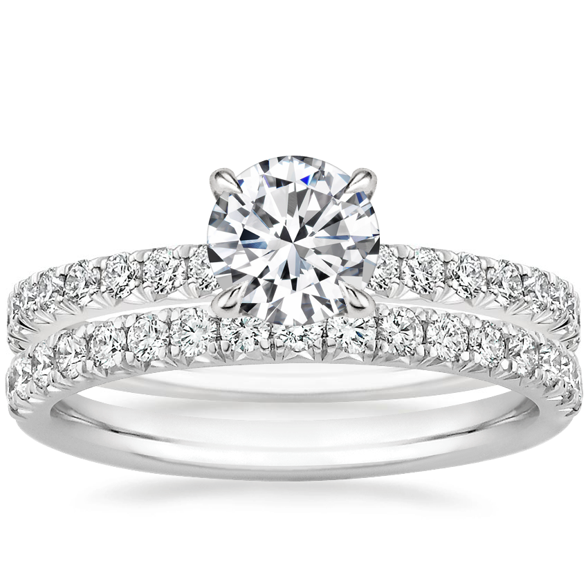 18K White Gold Amelie Diamond Ring (1/3 ct. tw.) with Amelie Diamond Ring (1/3 ct. tw.)