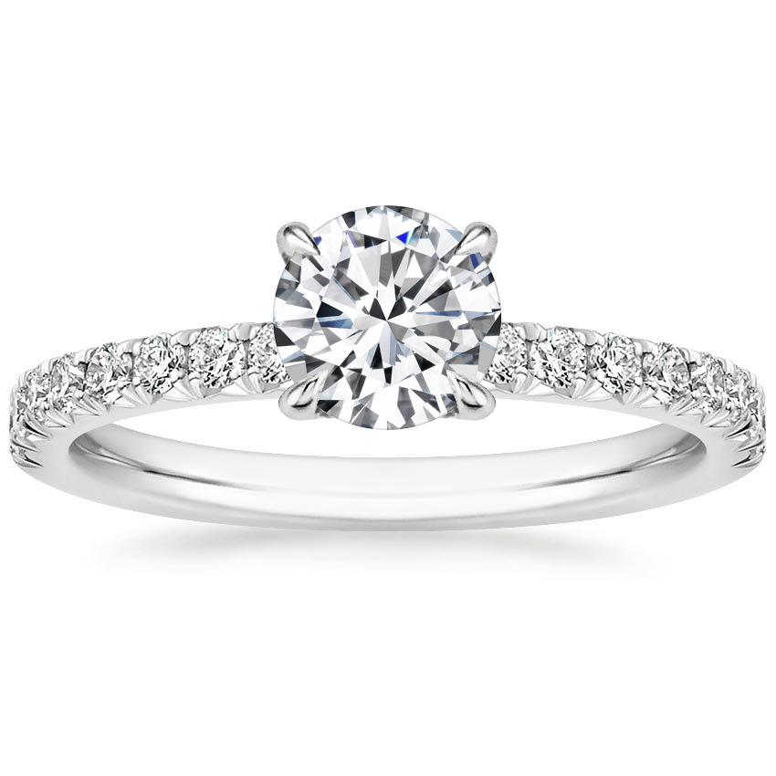 Round French Pavé Diamond Ring