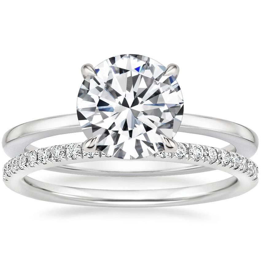 18K White Gold Lumiere Diamond Ring with Ballad Diamond Ring (1/6 ct. tw.)