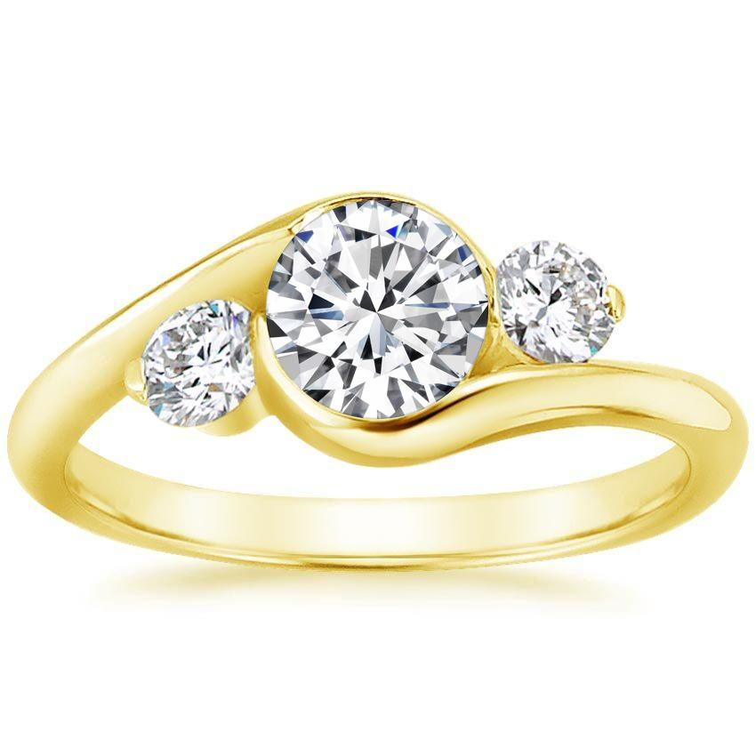 Yellow Gold Cascade Three Stone Ring (1/3 ct. tw.)