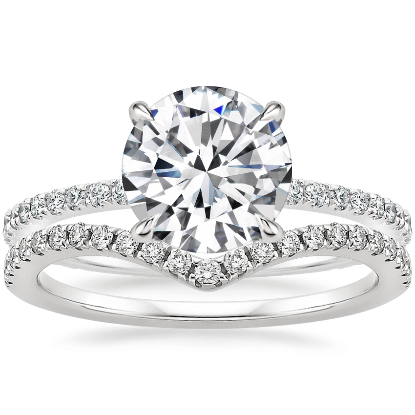 Platinum Demi Diamond Ring (1/3 ct. tw.) with Flair Diamond Ring