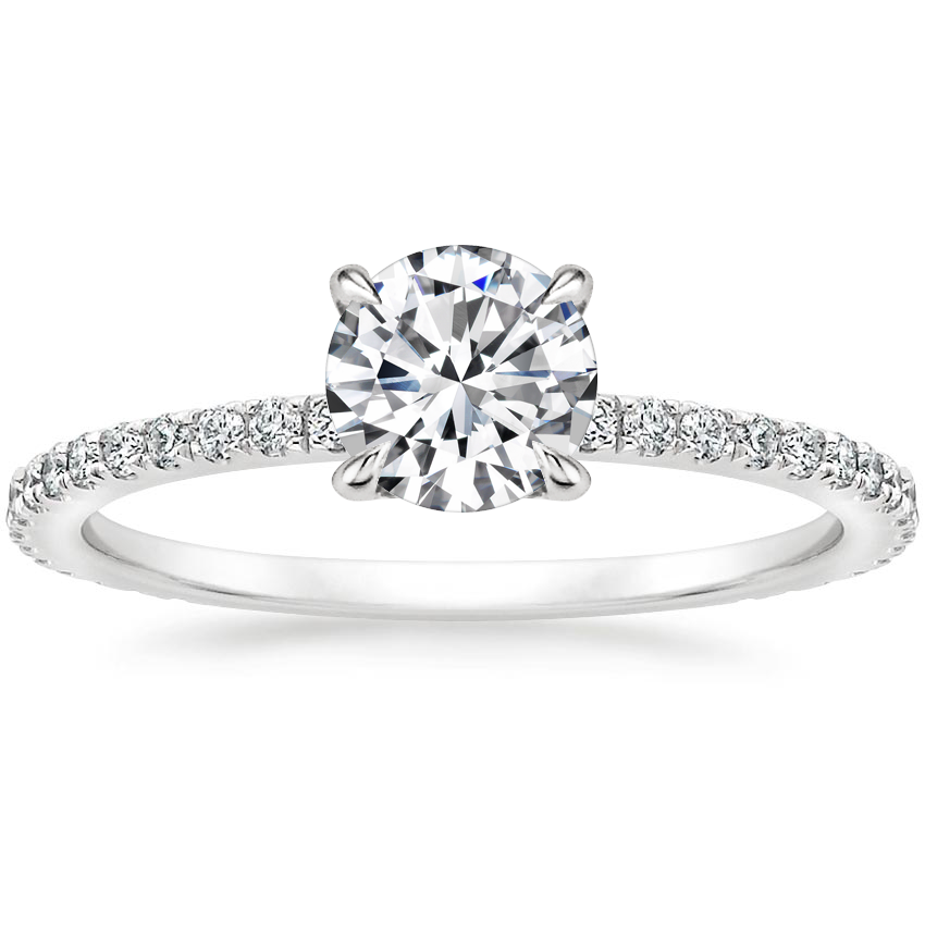 Round Platinum Mixed Metal Demi Diamond Ring (1/3 ct. tw.)