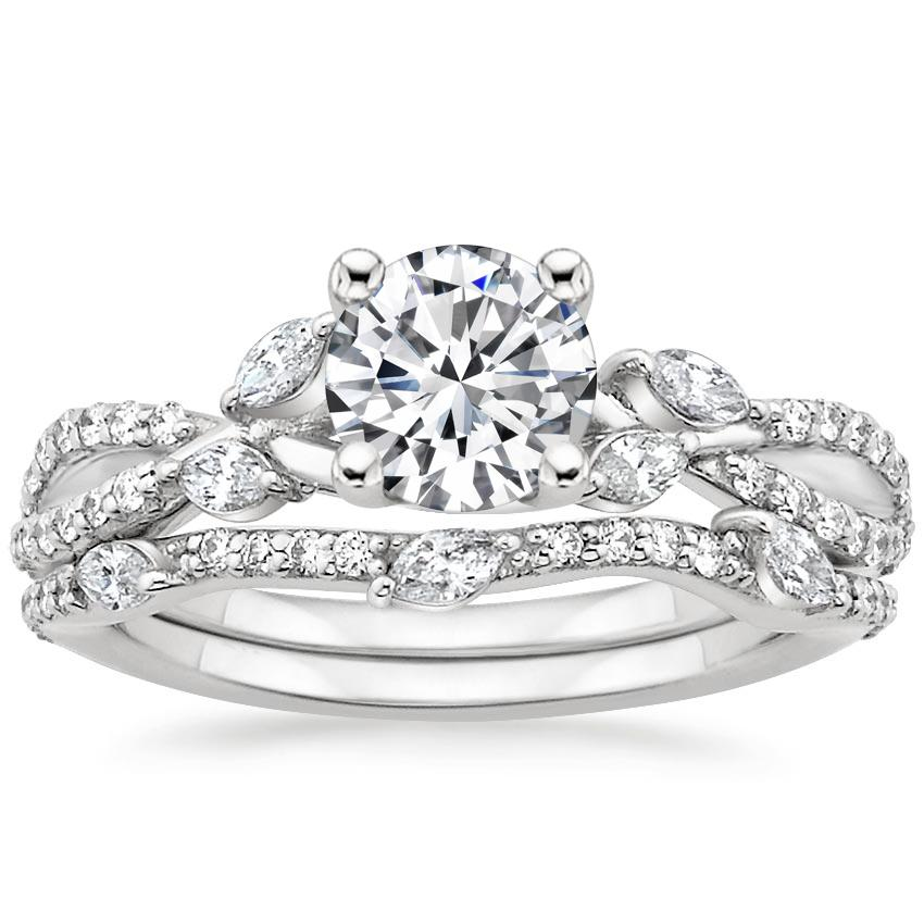 18K White Gold Luxe Willow Bridal Set (1/2 ct. tw.)
