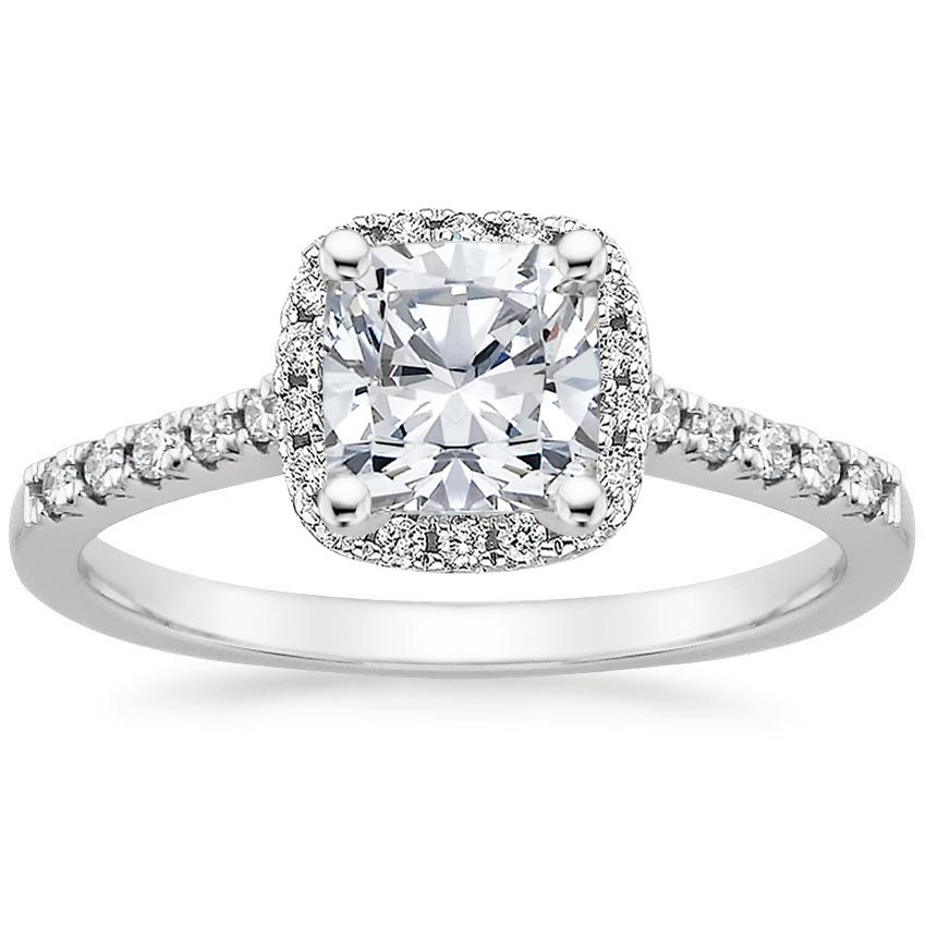 Cushion Platinum Odessa Diamond Ring (1/5 ct. tw.)