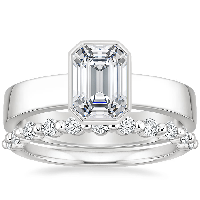 18K White Gold Vesper Ring with Marseille Diamond Ring (1/3 ct. tw.)