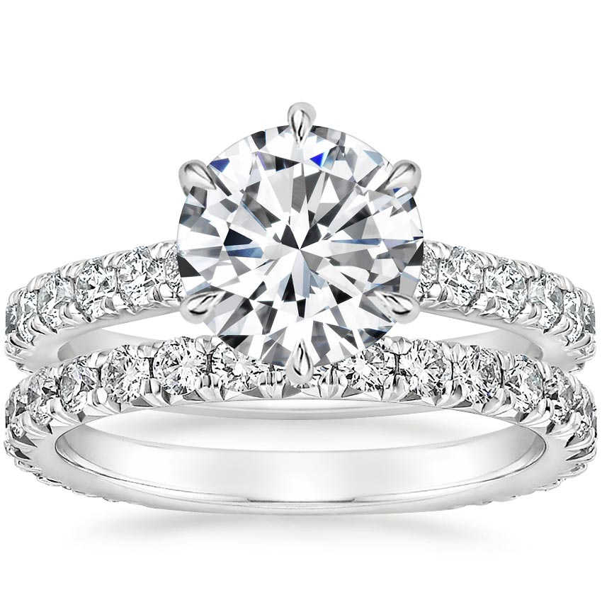Platinum Luxe Sienna Diamond Bridal Set (1 1/8 ct. tw.)