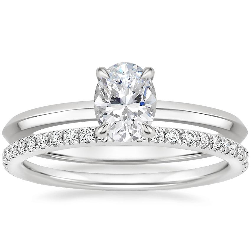 18K White Gold Hazel Ring with Luxe Ballad Diamond Ring (1/4 ct. tw.)