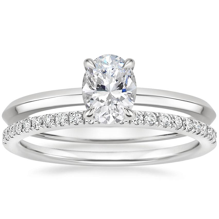 18K White Gold Hazel Ring with Ballad Diamond Ring (1/6 ct. tw.)
