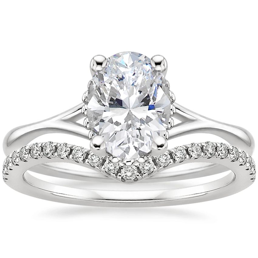 Platinum Cava Ring with Flair Diamond Ring (1/6 ct. tw.)